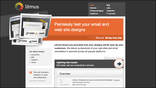Litmus: Painlesssly test you web designs