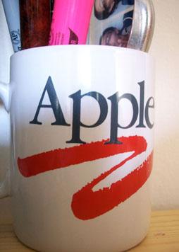 1980's Apple Computer Logo on a Coffee Mug