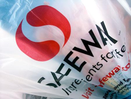 Safeway Logo on Shopping Bag