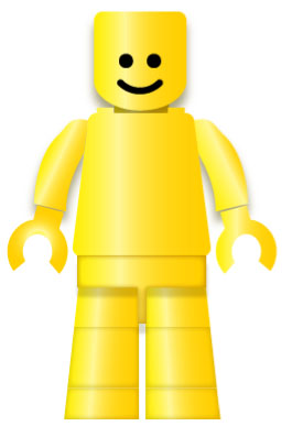 naked lego man, illustration
