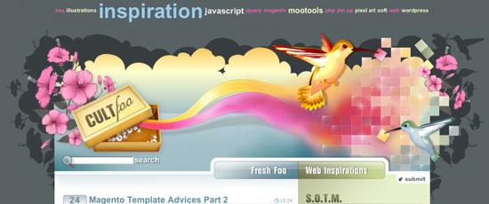 cultfoo, pink website
